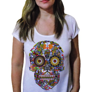 Camiseta Feminina Caveira 4