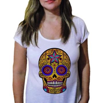 Camiseta Feminina Caveira 5