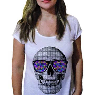 Camiseta Feminina Caveira 8