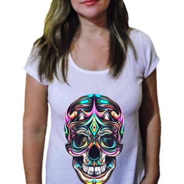 Camiseta Feminina Caveira 9