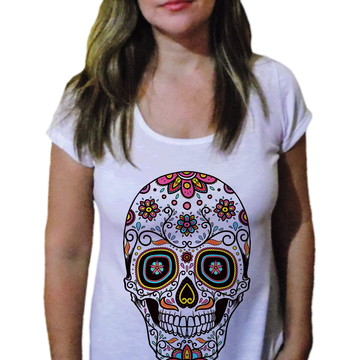 Camiseta Feminina Caveira 10