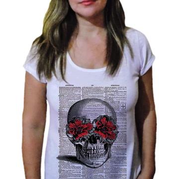 Camiseta Feminina Caveira 11