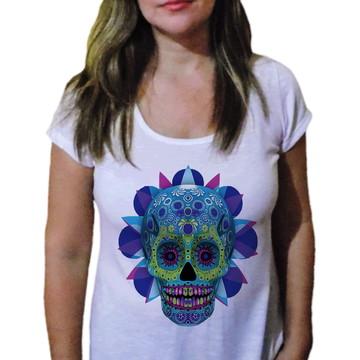 Camiseta Feminina Caveira 13