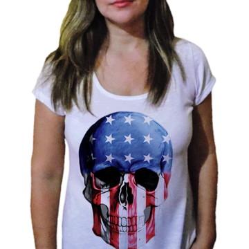 Camiseta Feminina Caveira 19