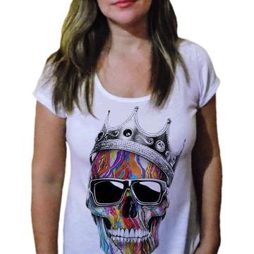 Camiseta Feminina Caveira 20