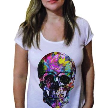 Camiseta Feminina Caveira 22