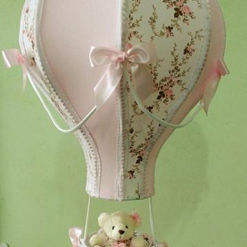 Lustre balão luminária floral provençal personalizado nome