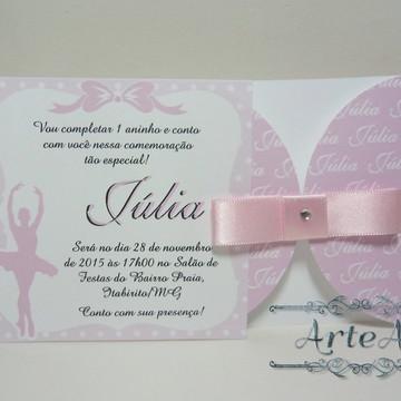 Convite Mini Infantil Bailarina