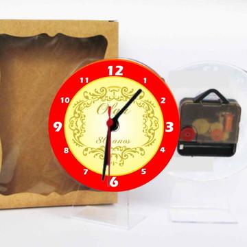 80 anos Relógio Centro De Mesa