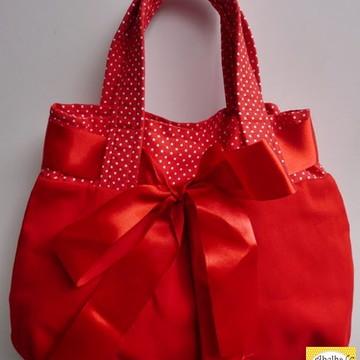 Bolsa de mão vermelha