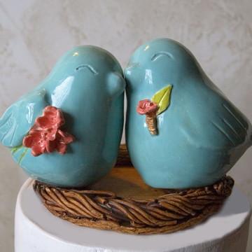 Pombinhos com Bouquet Boutonniere