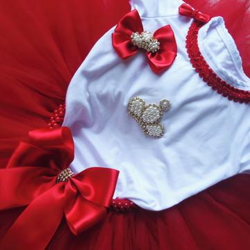 Conjunto Tutu - Princesa Vermelha