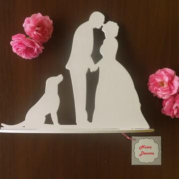 Topo com cachorro - casamento