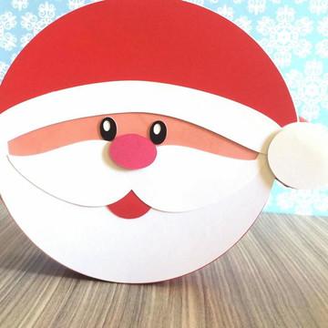 Caixa redonda Papai Noel