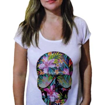 Camiseta Feminina Caveira 26