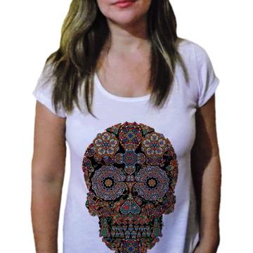Camiseta Feminina Caveira 28