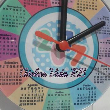 Relógio Calendário de Mesa