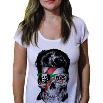 Camiseta Feminina Caveira 30