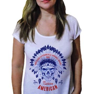 Camiseta Feminina Caveira 32
