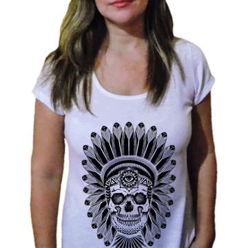 Camiseta Feminina Caveira 33