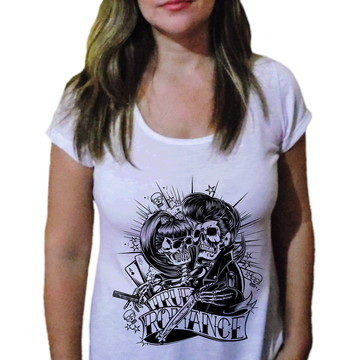 Camiseta Feminina Caveira 40