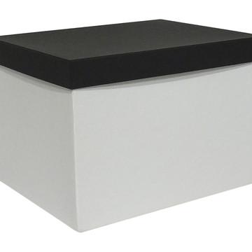 Caixa arquivo com identificador preto