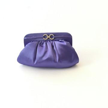 Clutch de festa Roxa cetim mini soft