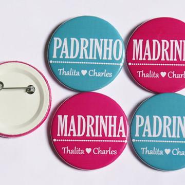 Boton Personalizado Padrinho e Madrinha