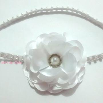 Headband/Faixa/Tiara Branca