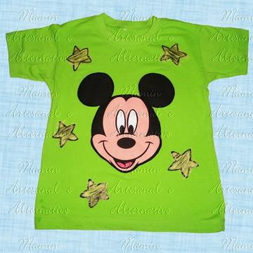 Camiseta Mickey Estrelas Limão
