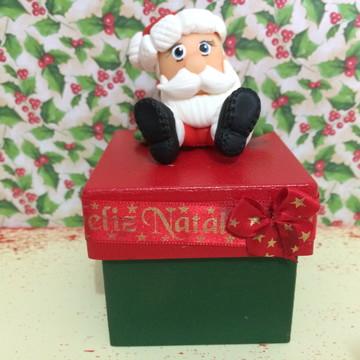 NATAL Lembrança de Natal - Caixa em MDF Papai