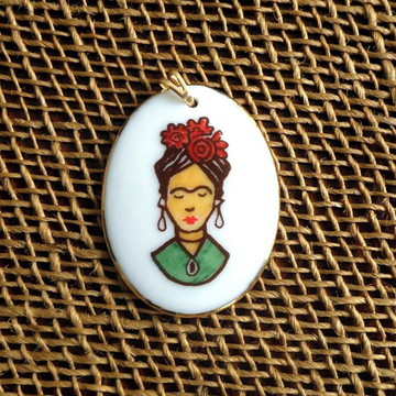 Pingente Frida Kahlo