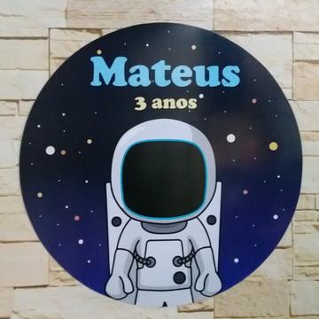 Placa em pvc Astronauta