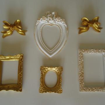 Kit Molduras para Fotos/Espelhos/Tecidos
