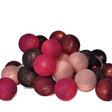 Cordão de luz bolas de cotton OUTONO