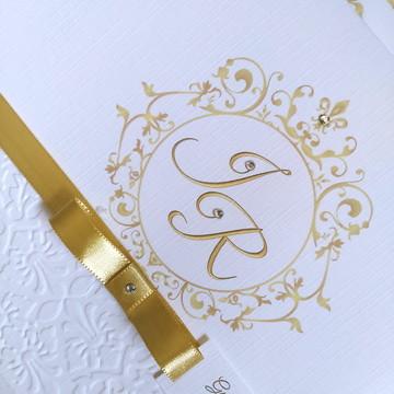 Convite de casamento Texturizado