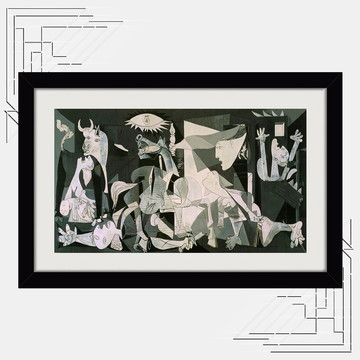 Quadro Guernica Pablo Picasso 65x45cm Espanha Gerra Civil K6
