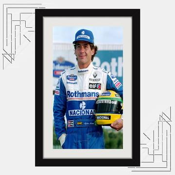 Quadro Decorativo Ayrton Senna 65x45cm Campeão F1 Sala K6