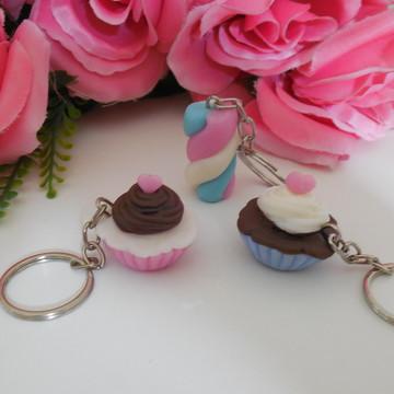 Lembrancinha chaveiro mini cupcake