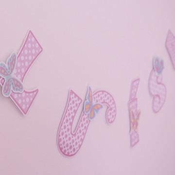 Varal de letras-borboleta R$ por letra