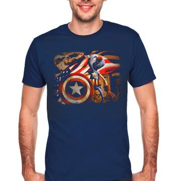 Camiseta Captain America Grover 028