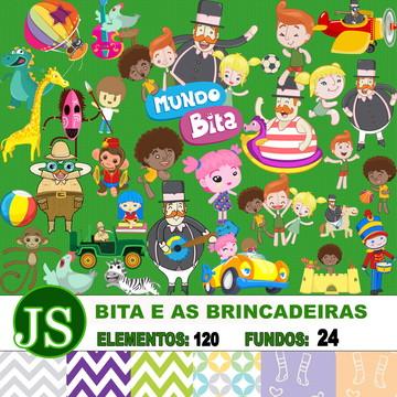 Kit Digital Scrapbook Bita e as Brincade