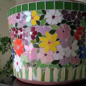 Vaso em mosaico - tamanho grande