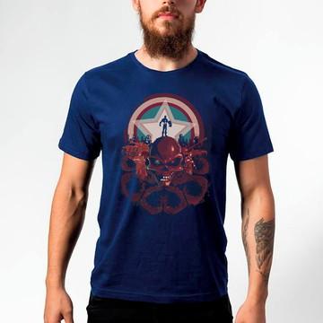 Camiseta Captain America Red Skul 119