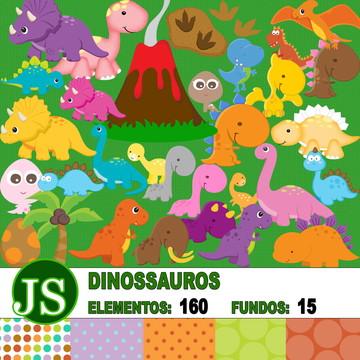 Kit Digital Scrapbook - Dinossauros