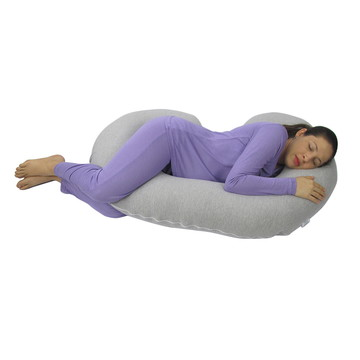 Travesseiro Para Gestante Babykinha Anatômico Cinza Mescla