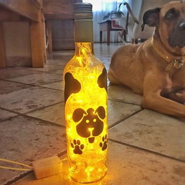 Luminária de garrafa Cachorríneo - Pet