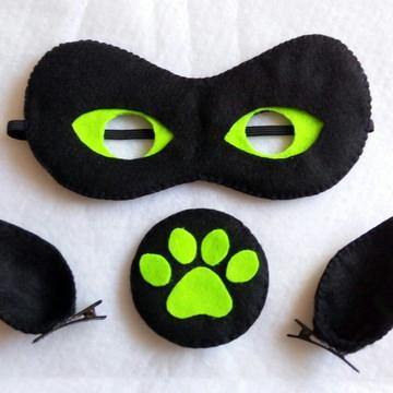 Kit Máscara Cat Noir