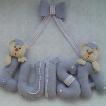 Enfeite Porta Maternidade Luisa com ursi
