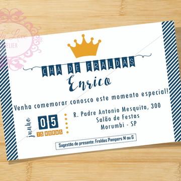 Convite Digital Príncipe Azul Marinho